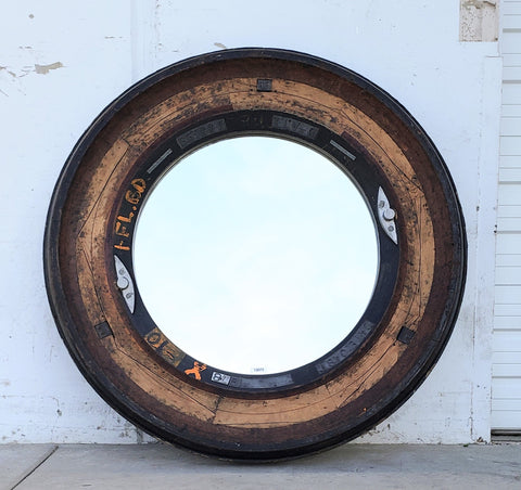 Industrial Wooden Mold Mirror from L'isle-sur-la-Sorgue