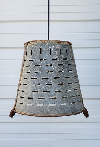 Olive Bucket Hanging Light