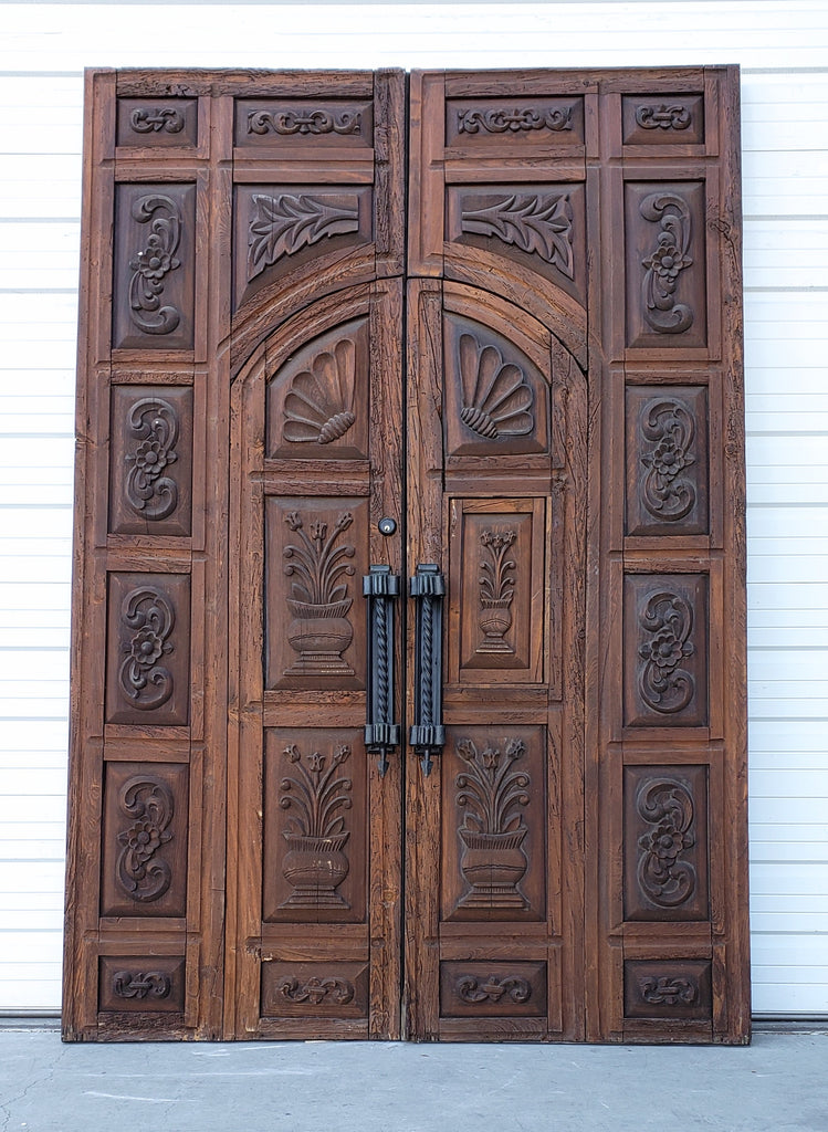 Pair of Ornately Carved Doors
