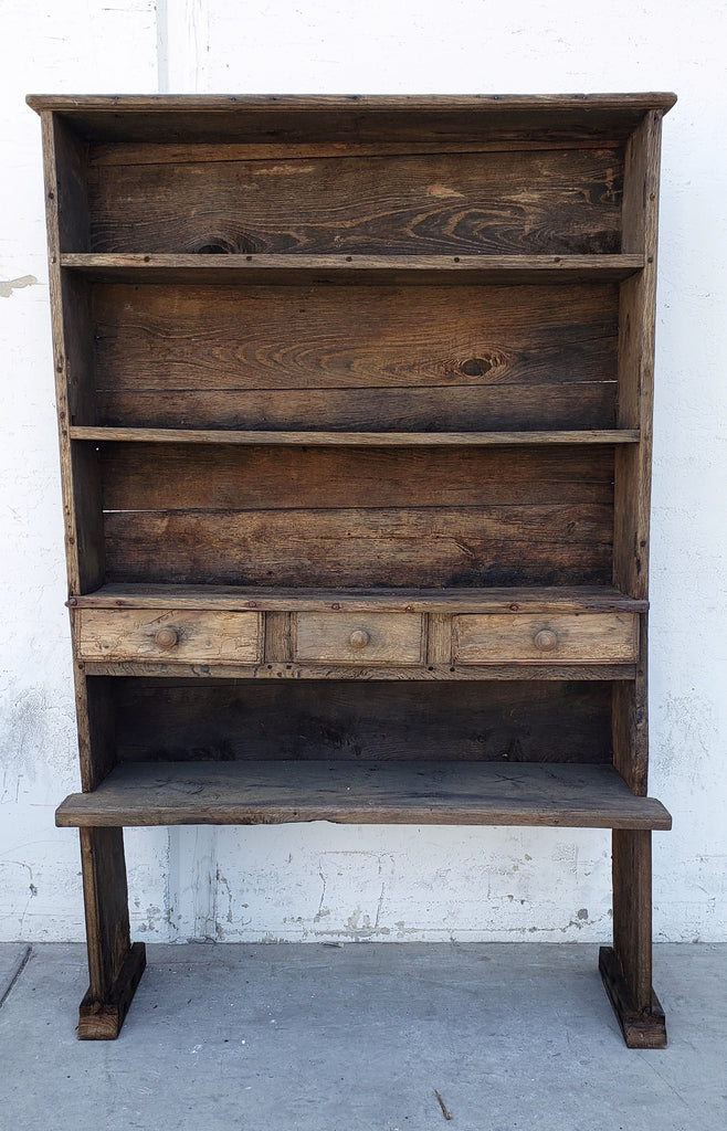 Primitive Wooden Shelf/Cupboard From Marseille, France