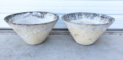 Pair of Cone Willy Guhl Planters