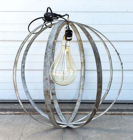 Wine Barrel Ring Orb Pendant Light