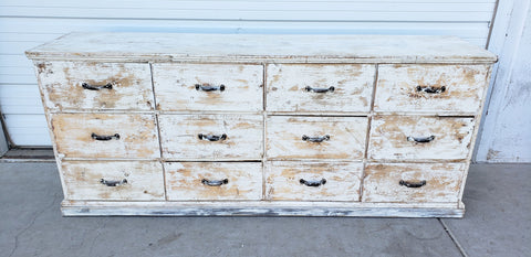 Painted 12 Drawer Sideboard