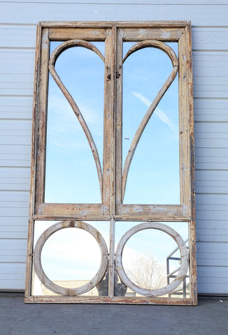 Pair of Mirrored Doors with Heart Design