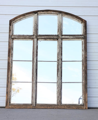 Wood Window with 12 Mirrored Panes