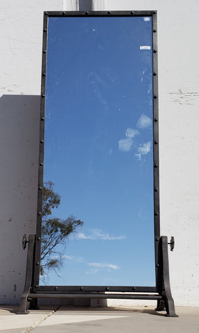 Full-Length Standing Iron Frame Mirror