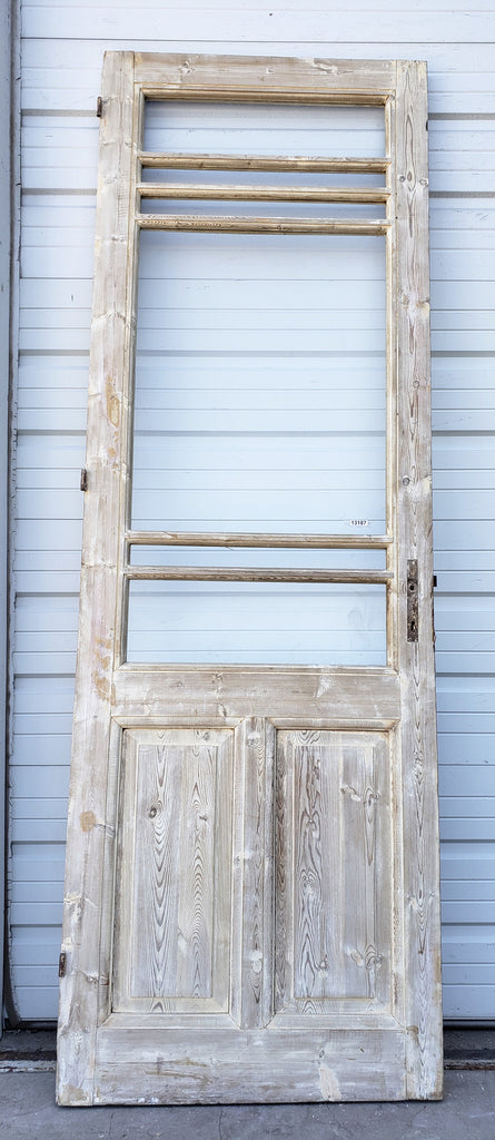 Single Bleached Wood 6 Horizontal Lite Door