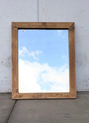 Barn Wood Framed Beveled Mirror
