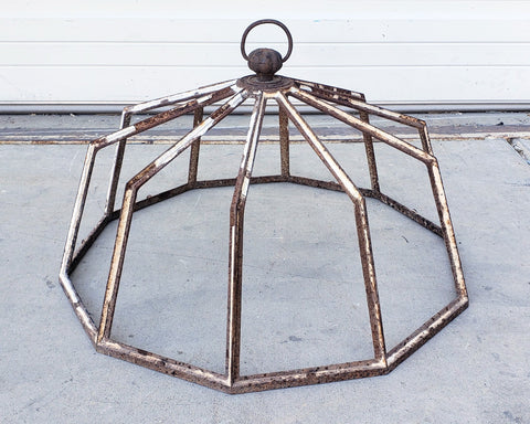 Antique English Steel Garden Cloche