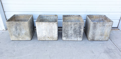 Set of 4 Square Willy Guhl Planters