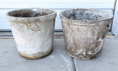 Pair of Small Round Willy Guhl Planters