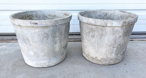 Pair of Small Willy Guhl Planters with Handles