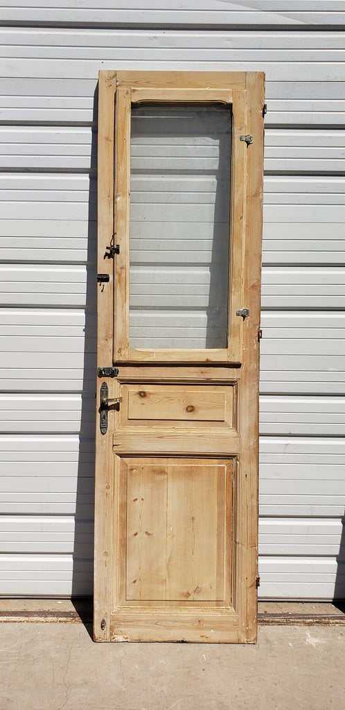 Single Wood Door with One Lite