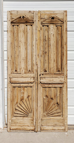 Pair of Carved Wood Doors