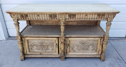 Stripped and Bleached Sideboard
