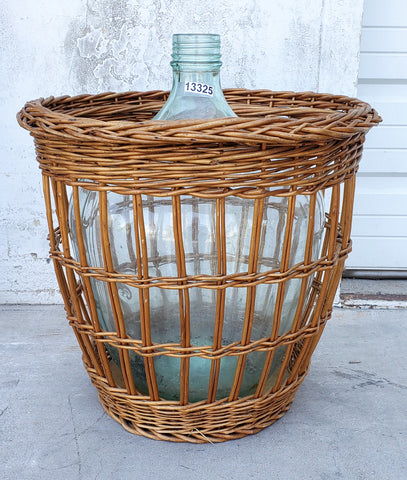 Wine Bottle in Wicker Basket