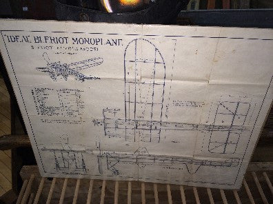 "Schematic ""Ideal"" Bleriot Monoplane"" Lithography Stone"