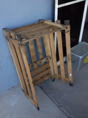 Crate, collapsable wood