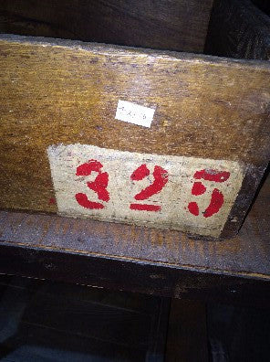Box, wood red #'s325