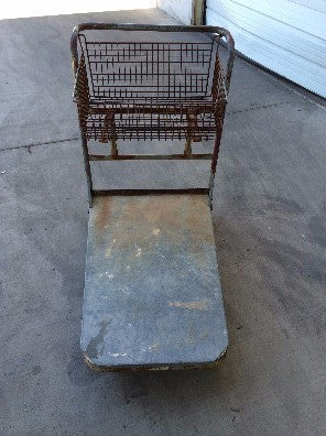 Industrial Flat Trolley with Basket