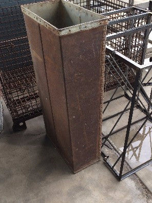 Ice Bin, for railroad cars, domestic 1800's from Idaho  5' tall & hollow