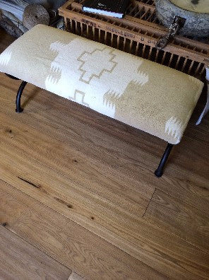 Iron Bench with Ralph Lauren Fabric