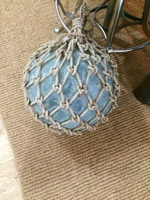 Glass ball/float Japanese in mesh net