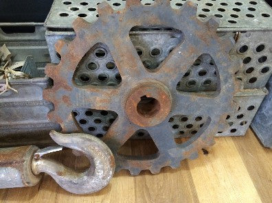 Gear, iron, 3' diam