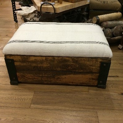 """Chicago"" Wooden Crate Ottoman"