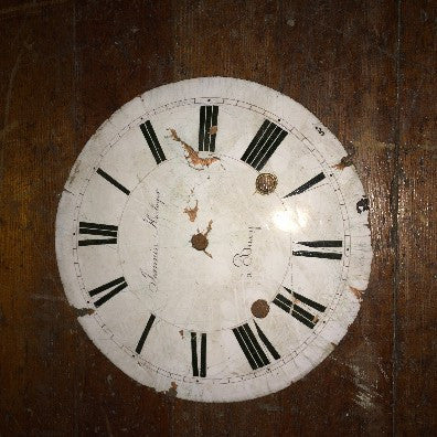 Antique French Porcelain Clock Face