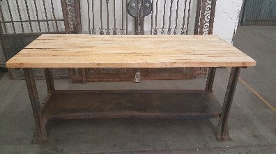 Reclaimed Bowling Alley Work Table