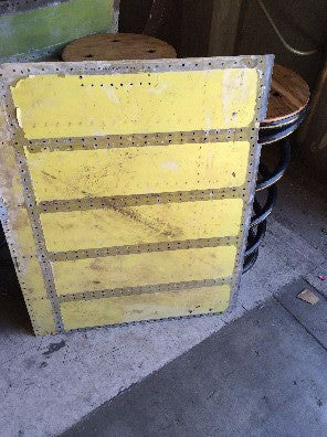 Airplane sheet metal, yellow