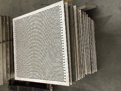 Grate, square with multiple holes