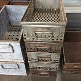 Industrial Metal Bin with Handles