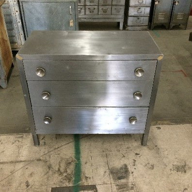 3 drawer Metal Dresser