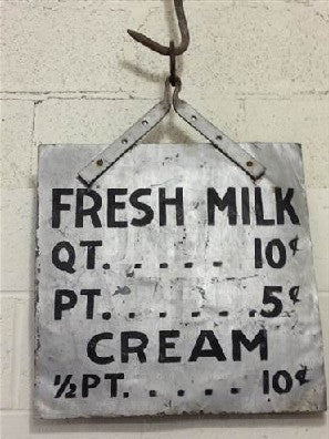 """FRESH MILK"" Sign (Restaurant)"