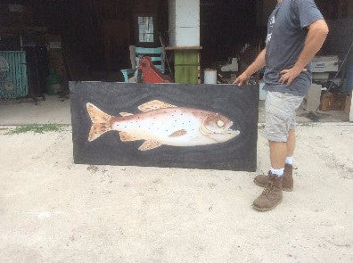 Sign, horizontal image of a fish