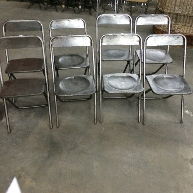 Set of 8 Steel Folding Chairs
