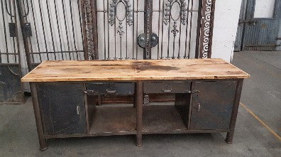 2 Drawer Industrial Island Work Bench