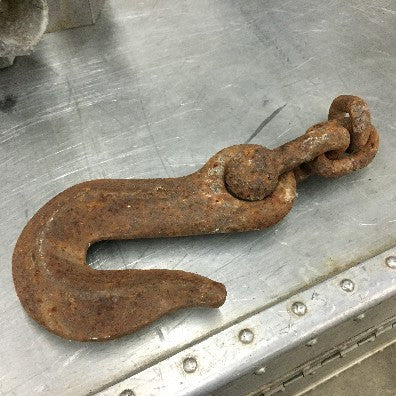 Hook, iron with small chain