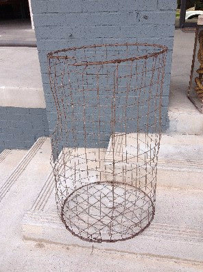 Basket open ended, metal, approx 48""