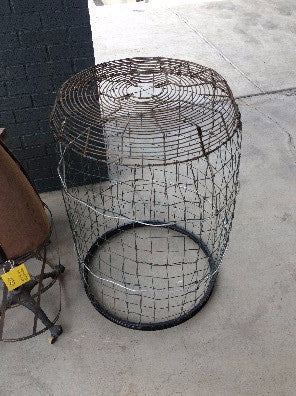 "Basket, metal, 48"" approx"