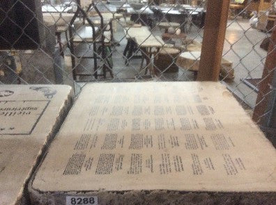 Litho stone  Small paragraphs