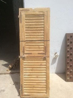 Pair of Natural Wood Shutters