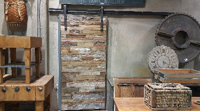 Reclaimed Barnwood Single Sliding Barn Door - Custom Designed