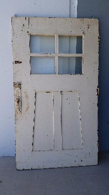 White Door with 4 Panes of Glass