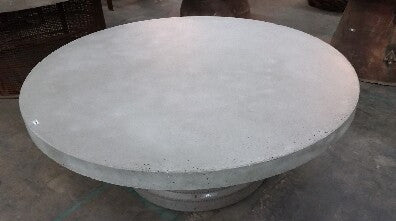 "60"" Round Concrete Table Top Gray"