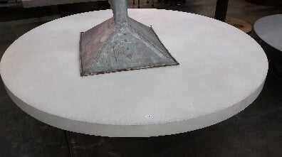"72"" Round Cream Concrete Table Top"