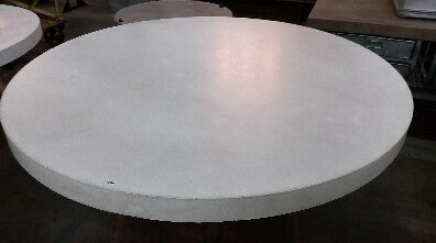 "60"" Round Cream Concrete Table Top"