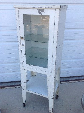 White Medical Cabinet - Display Case